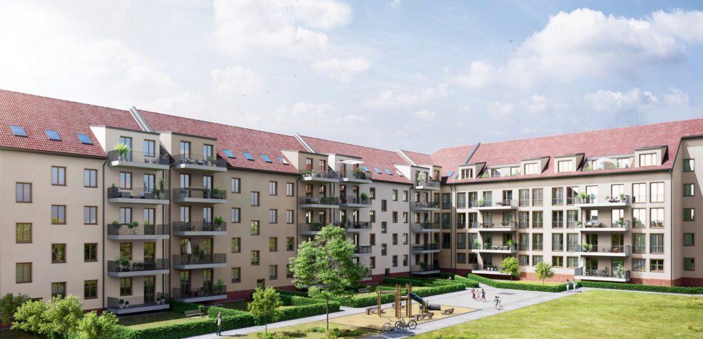 Pilotprojekt D17 in Leipzig-Plagwitz – so wird das erste Gebäude aus EMC-Fertigteilen aussehen (unverbindliche Darstellung)